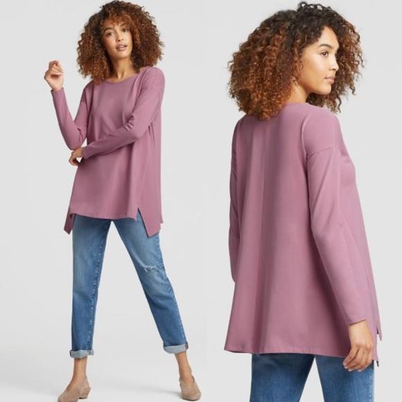 Eileen Fisher Tops - NWOT EILEEN FISHER Light Pink Organic Cotton Tunic